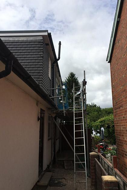 Soil pipe alternation for dormer extension in Wolverhampton